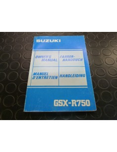 Manuel du propriétaire GSXR 1100